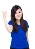 Asian woman thumb up Stock Photos