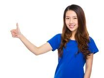 Asian woman with thumb up Stock Photos