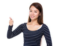 Asian woman with thumb up Stock Photos