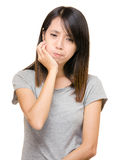 Asian woman with toothache Stock Photos