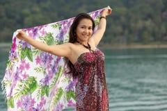 Asian woman  tourist Royalty Free Stock Photos