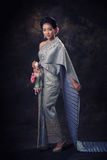 Asian woman in tradition dress Stock Photo
