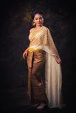 Asian woman in tradition dress Stock Images