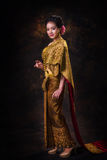 Asian woman in tradition dress Stock Photography