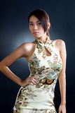 Asian woman in traditional oriental  dress Royalty Free Stock Photography