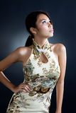 Asian woman in traditional oriental  dress Royalty Free Stock Photos