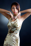Asian woman in traditional oriental  dress Royalty Free Stock Photo