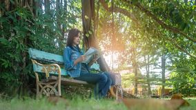 Asian woman traveler Stock Images