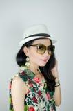 Asian woman traveler Stock Image