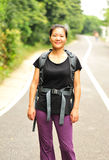 asian woman trekking Royalty Free Stock Photos