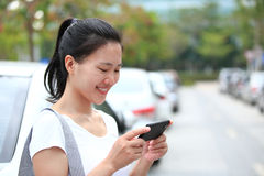 Asian woman use smartphone Royalty Free Stock Photography
