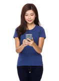 Asian woman use of smartphone Royalty Free Stock Photo