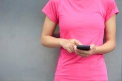Asian woman use smartphone Stock Photo