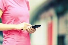 Asian woman use smartphone Stock Photos