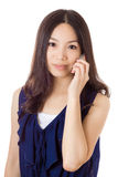 Asian woman using mobile Royalty Free Stock Image