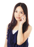 Asian woman using mobile Royalty Free Stock Images