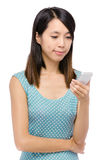 Asian woman using with phone Royalty Free Stock Photo