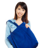 Asian woman using recycle bag Stock Images