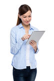 Asian Woman using tablet Stock Photos