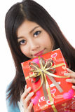 Asian woman valentines day Stock Image
