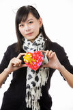 Asian woman valentines day Royalty Free Stock Photography