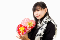 Asian woman valentines day Stock Photography