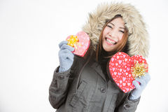 Asian woman valentines day Royalty Free Stock Photo