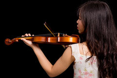 Asian woman and violin Stock Photo