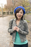 Asian woman walk at street Stock Photography