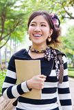 Asian woman walking Royalty Free Stock Image