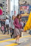 Asian woman walking Stock Photography