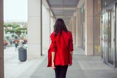 Asian woman walking outdoors Stock Photos
