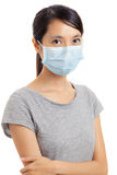 Asian woman wear face mask Stock Images