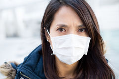 Asian Woman wear medical mask Stock Image