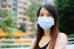 Asian woman wear protective face mask Royalty Free Stock Images