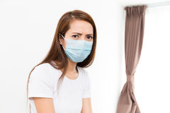 Asian woman wear with protective face mask Stock Image