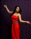 Asian Woman Wearing Beautiful Vibrant Dress Royalty Free Stock Photography