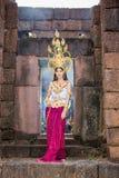 Asian woman wearing cambodia traditional dress Stock Photos