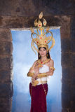 Asian woman wearing cambodia traditional dress Stock Photography