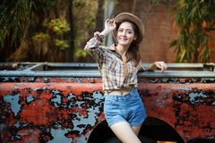 Cowgirl royalty free stock photos