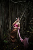 Asian woman wearing dress traditional Thai costume ,beautiful wo Stock Image