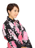 Asian woman wearing kimono Royalty Free Stock Photo