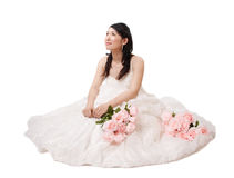 Asian woman in wedding dress Stock Photo