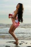 Asian woman in white bikini Stock Photo