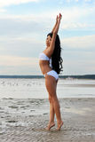 Asian woman in white bikini Stock Photos