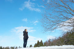 Asian woman in winter fashion Royalty Free Stock Photo