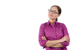Asian Woman With Arms Crossed Royalty Free Stock Image