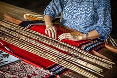 Detail of asian loom Royalty Free Stock Photography