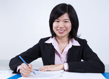 Asian woman working Stock Photo