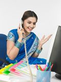 Asian woman working in the office Royalty Free Stock Photo